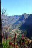 Curral das Freiras, Madeira ö, Portugal royaltyfri fotografi