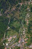 Curral das Freiras. Small village of Curral das Freiras, view from above, at Madeira island, Portugal Royalty Free Stock Photos