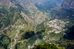 Curral das Freiras. A small village  in a valley in Madeira Stock Images