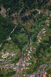Curral das Freiras. Small village of Curral das Freiras, view from above, at Madeira island, Portugal Stock Images