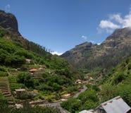 Curral das Freiras valley, Madeira. Curral das Freiras steep and  valley. Madeira, Portugal Royalty Free Stock Image