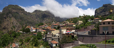 Curral das Freiras village, Madeira. Curral das Freiras village inside steep isolated valley. Madeira, Portugal Stock Image