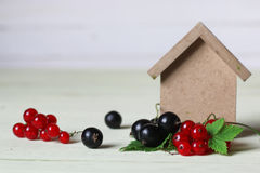 Currant berry on wooden table Royalty Free Stock Image