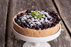 Currant Blueberry Pie with Oatmeal Crust, horizontal, close up. Currant Blueberry Pie with Oatmeal Crust Royalty Free Stock Photos