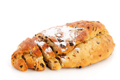 Currant bread for Christmas stock image