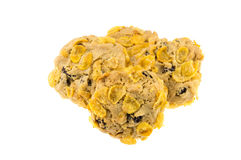 Currant and cornflakes cookie isolate on white background.  Stock Photography