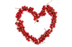 Currant heart Royalty Free Stock Images