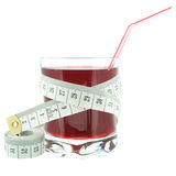 Currant juice and meter Stock Images