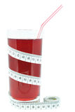 Currant juice and meter Royalty Free Stock Photo