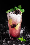 Currant Mojito on a table Royalty Free Stock Image