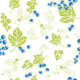 Currant. Vector seamless pattern. Royalty Free Stock Photo