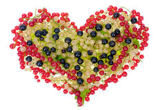Currant vitamins heart concept isolated Stock Photo