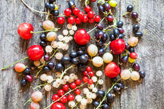 Currants, cherries and other summer fruits Royalty Free Stock Photos