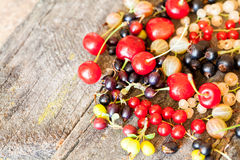 Currants, cherries and other summer fruits Stock Photography