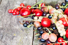 Currants, cherries and other summer fruits Stock Images