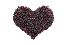 Currants in a heart shape Royalty Free Stock Photos