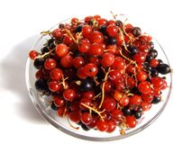 Currants on plate Royalty Free Stock Images