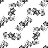 Currants seamless pattern black silhouette Stock Photo