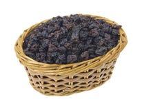 Currants in wicker basket Stock Photo