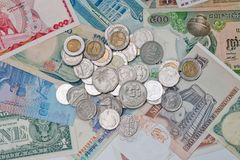 Currencies around the world. Royalty Free Stock Image