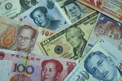 Currencies from Around the World Royalty Free Stock Images