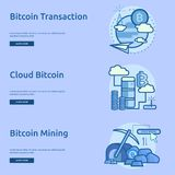 Currencies Conceptual Banner Design. Set of great banner flat design illustration concepts for currency, business, finance and much more Stock Photos