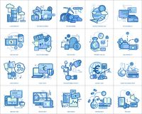 Currencies Conceptual Design. Set of great flat design illustration concepts for currency, business, finance and much more Stock Photography