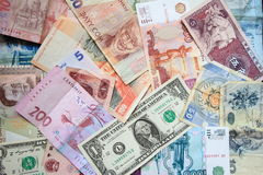 Currencies of different countries Royalty Free Stock Images