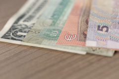 Currencies of different countries Royalty Free Stock Photos