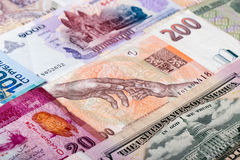 Currencies of different countries Stock Images