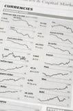 Currencies exchange rate Stock Photo