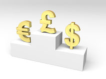 Currencies exchange rates Royalty Free Stock Image