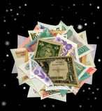 Currencies From Around The World, Paper Banknotes. Royalty Free Stock Images