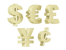 Currencies - Platinum Royalty Free Stock Images