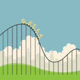 Currencies on Roller Coaster Stock Images