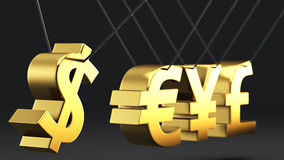 Currencies's pendulum Royalty Free Stock Photography