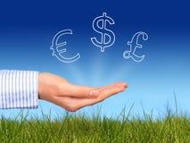Currencies to invest. Best currencies to invest concept royalty free stock photo