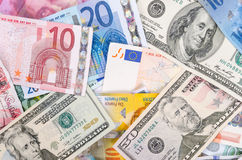 Currencies Royalty Free Stock Photos