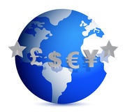 Currencies of the world Royalty Free Stock Images