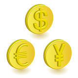 Currency. This graphic is business objects Royalty Free Stock Photography