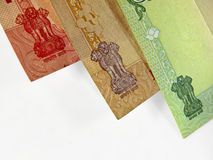 Currency. Indian currency five, ten, twenty Rupee banknotes Stock Photography