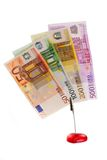 Currency. Clipped European bank notes on white background Stock Photography