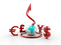 Currency 3d symbols Stock Image