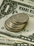Currency. Close-up shot of United States currency Royalty Free Stock Photos