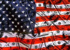 Currency american dollars. Background American Flag, for designer vector illustration