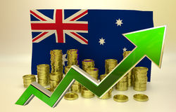 Currency appreciation - Australian dollar Royalty Free Stock Photography