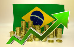 Currency appreciation - Brazilian real Stock Photo