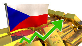 Currency appreciation - Czech crown Stock Photos