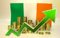 Currency appreciation - Irish economy Royalty Free Stock Images