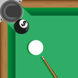 Currency ball. Last ball on snooker table to end game Stock Image